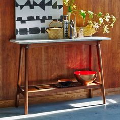 Reeve Mid-Century Console | west elm. Entryway