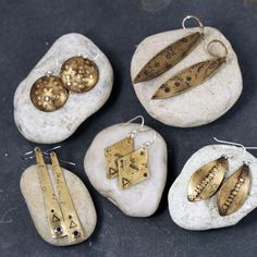 So many earring styles to choose in warm brass tones that are PERFECT for Fall!