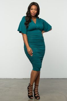 dc2e79b06 Flaunt your curves in a comfortable bodycon style like our plus size Rumor  Ruched Dress.