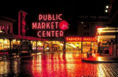 The public market center is my favorite place in Seattle to go to, because it's full of life, everywhere you turn you see the fish guys throwing fish to one another and everyone gets a kick out of it. Great Places, Places To See, Places Ive Been, Beautiful Places, Pike Place Market, Alaska Travel, Travel Usa, Washington State, Seattle Washington