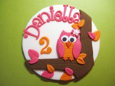 Whimsy Owl Cake Topper  White Background by AppleBlossomCupcakes, $18.00
