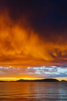 Stormy Summer Sunset Over Rosario Strait, Anacortes, Washington by Steve G. Bisig on 500px