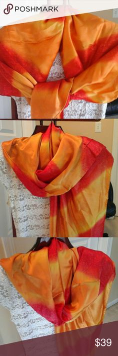 New High Quality 100 % Silk Scarf / Wrap, Large Brand New,  100 % Silk Scarf  / Wrap Accessories Scarves & Wraps