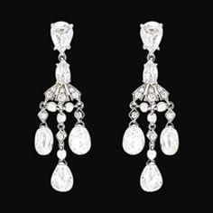 Chandelier diamonds 2.50 carat earring pair by diamondsfromnewyork, $2,990.00