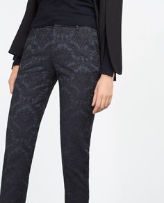 f75567cc82 Image 6 of JACQUARD TROUSERS from Zara Pantalones Jacquard