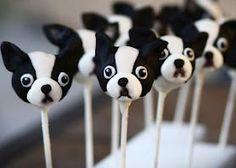 Boston Terrier cake pops :)