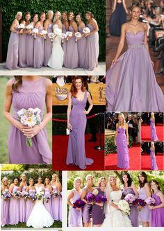 Purple bridemades dresses