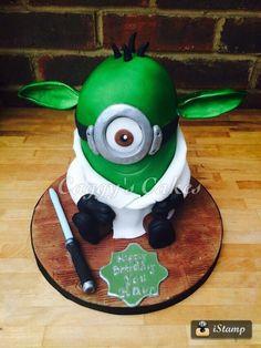 Yoda Minion - Cake by Caggy