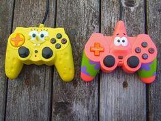 cutest controllers! #spongebob #ps3 #controllers