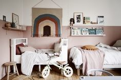 〚 Scandinavian home with warm accents and wood-burning fireplace 〛 ◾ Photos ◾Ideas◾ Design Boys Bedroom Furniture, Cheap Furniture, Kids Bedroom, Home Furniture, Half Painted Walls, Scandinavian Home, Kid Spaces, Unique Home Decor, Kids Decor