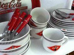 Vintage Coca Cola dishes