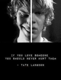 american psycho, american horror story, and tate image - Annemarie Janßen - Alles Uber Kinofilme Evan Peters, American Horror Story Quotes, American Psycho Quotes, Tate Ahs, Tate And Violet, Kino Film, Film Serie, Series Movies, Horror Stories