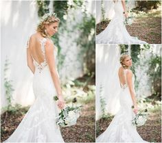 Nature inspired wedding with hints of baby blue   Martina Liana designer wedding gown   LewChan Photography