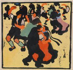 Herbert Gurschner, Bauerntanz Vienna, Modern Contemporary, Auction, Fine Art, Oil Paintings, Austria, Artist, Prints, Woodblock Print