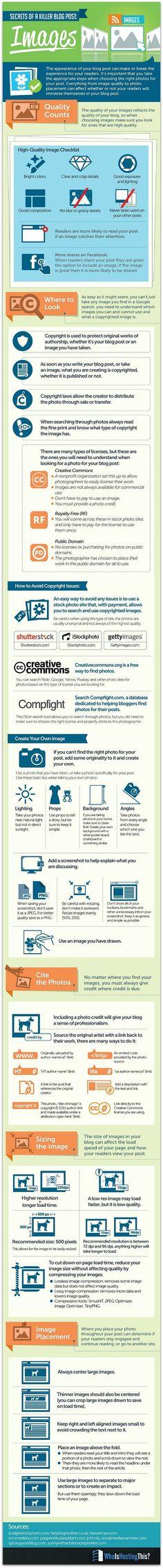 Sources of Killer Blog Post Images #blogging #infographic