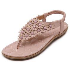 91c752e2c7c Sweet Flower Bohemia Sandals. Women s SandalsBeach ...