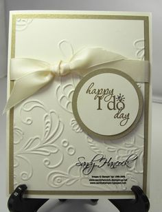 I love the elegance of this card - I would probably make it with the Mr. & Mrs. Stamp though