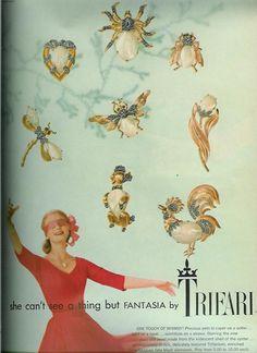 Trifari Oct. 1957 Vogue Ad