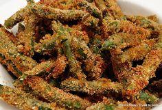 Baked crispy green bean fries