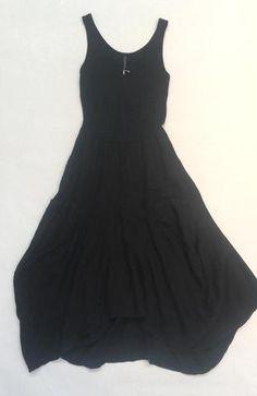 """Inizio """"Magic"""" Dress in Black Linen"""