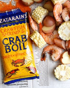 Stove top shrimp boil: Use Zatarain's Complete Crawfish, Shrimp & Crab Boil to create the unmistakable flavor of a New Orleans shrimp boil right on your stove top. (Seafood Recipes New Orleans) Shrimp And Crab Boil, Fish Boil, Seafood Boil Party, Seafood Boil Recipes, Seafood Dinner, Cajun Seafood Boil, Boiled Shrimp, Crawfish Recipes, Cajun Recipes