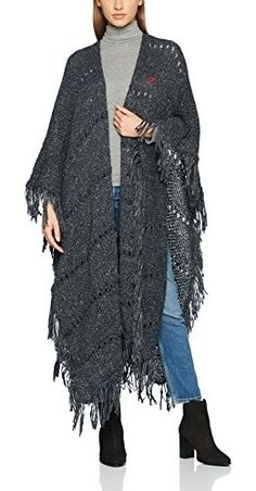 Crochet Ruana Pattern: Rockin-It Ruana Crochet Poncho Patterns, Crochet Coat, Shawl Patterns, Crochet Cardigan, Crochet Scarves, Crochet Shawl, Crochet Clothes, Crochet Blankets, Knit Fashion