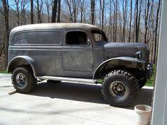 "39-47dodgeplymouthfargo:1940 Dodge ""Power Panel"" Wagon Old Dodge Trucks, Old Pickup Trucks, Dodge Suv, Zombie Vehicle, Dodge Vehicles, Panel Truck, Dodge Power Wagon, Classic Trucks, Classic Cars"