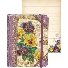 Punch Studio Collage Tiny Book Pansy Seed Packets