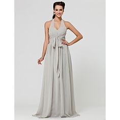 LAN+TING+BRIDE+Floor-length+Halter+V-neck+Bridesmaid+Dress+-+Sexy+Sleeveless+Chiffon+–+USD+$+79.99