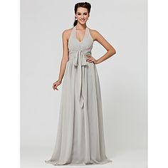 LAN+TING+BRIDE+Floor-length+Halter+V-neck+Bridesmaid+Dress+-+Sexy+Sleeveless+Chiffon+–+USD+$+79.99