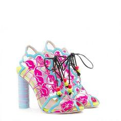 Sophia Webster | SS15 | Flamingo Sophia Webster Shoes, Pretty Shoes, Beautiful Shoes, Flamingo Shoes, Mickey Mouse, Colorful Shoes, Embellished Sandals, Stiletto Shoes, Outfit Grid