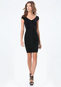 7e156477f6 Sheri+Shirred+Bodycon+Dress Scoop Neck