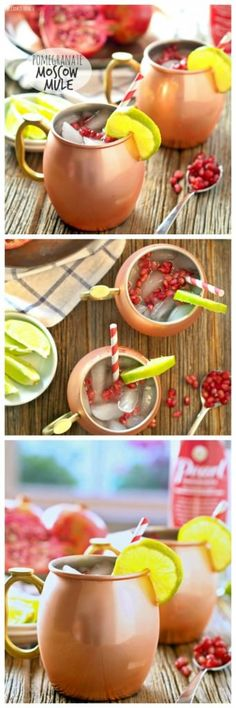 Pomegranate Moscow Mule #cocktail #TGIF