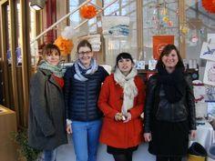 Marie, Jenifer, Emilie et Caroline de la team Bordeaux au Bazar de Noel en décembre 2015