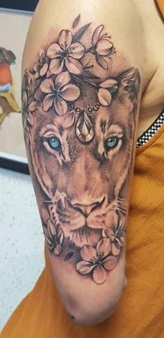 Tatuaggi Gambe, Tatuaggi Neri, Tatuaggi Braccio, Tatuaggi Cool, Tatuaggio  Con Leone,