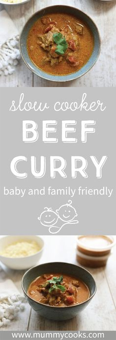 Visit our website for tons of family friendly batch cooking slow cooker recipes! All our recipes are suitable for weaning babies and fussy eaters. This slow cooker beef curry is so easy and simple to make! Easy Family Meals, Family Recipes, Quick Easy Meals, Batch Cooking, Cooking Time, Slow Cooker Beef Curry, Fussy Eaters, Recipes From Heaven, Food Heaven