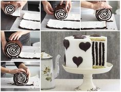"""<input class=""""jpibfi"""" type=""""hidden"""" >This Chocolate Stripe Cake is so gorgeous and delicious as well .It's made with a chocolate roulade, vanilla cake for the base and top and buttercream to hold it all together.Your family and friends will be absolutely delighted when you cut into this amazing cake! Click here for the recipe from 'Good Food Channel' Click…"""