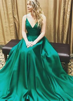 2017 prom dress, long prom dress, green prom dress, v-neck prom dress party dress
