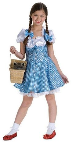 Girls Sequin Dorothy Costume - Wizard of Oz -Storybook Costumes -Girls Costumes -Halloween Costumes - Party City Girls Dorothy Costume, Girl Costumes, Dance Costumes, Tween Girls, Cute Girls, Halloween Costumes Party City, Hybrid Moments, Beautiful Little Girls, Cute Girl Outfits
