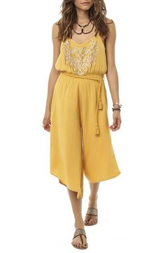 O'Neill Embroidered Wide Leg Romper available at #Nordstrom