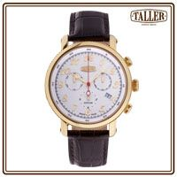 GT381.2.025.02.4 Gold Logo, Men's Collection, Silver Coins, Stainless Steel Case, Line, Sapphire, Crystals, Luxury, Water