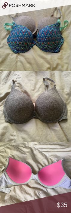 """Bundle of VS Pink bras both bras are """"Wear Everywhere Push-Up,"""" gently loved in excellent condition. will sell separately, but prefer to sell as a bundle. PINK Victoria's Secret Intimates & Sleepwear Bras"""