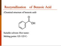 Melting Point, Chemical Structure, Benzoic Acid, Line Chart