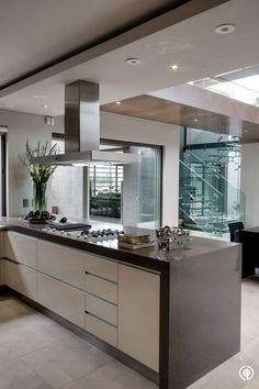 Interesting galley style kitchen.  On my wish list. #kitcheninteriordesigncontemporary