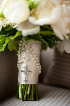 rosary & bouquet