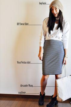 DIY:: Cutout & Cropped Sweatshirt #sewing #DIY