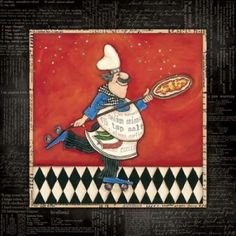 Roller Pizza Chef Canvas Art - Stephanie Marrott (24 x 24)