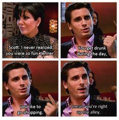 scott disick is hilarious Funny Kardashian Moments, Kardashian Quotes, Koko Kardashian, Kardashian Jenner, Kris Jenner, Lord Scott Disick, Lord Disick, Scott Disick Quotes, Funny Pix
