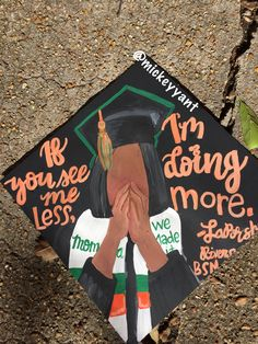 If you see me less, I'm doing more grad cap [ p ι n т e r e ѕ т ] : faithsarpong💥 Graduation Cap Designs, Graduation Cap Decoration, College Graduation, Graduation Gifts, Graduation Ideas, Grad Pics, Graduation Pictures, Grad Hat, Cap Decorations