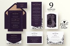 Wedding Invitation Suite - Adeline by Print The Love Boutique on @creativemarket